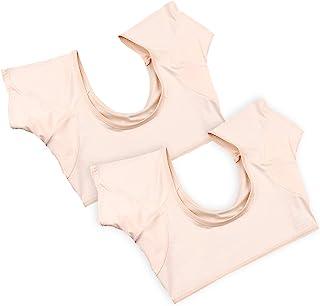汗取りインナー 2枚入セット 脇パッド付きインナー レディース インナーシャツ ワキサラット ワキ汗対策 色透け難い 極薄い 吸水速乾 汗取りパッド(Mサイズ)