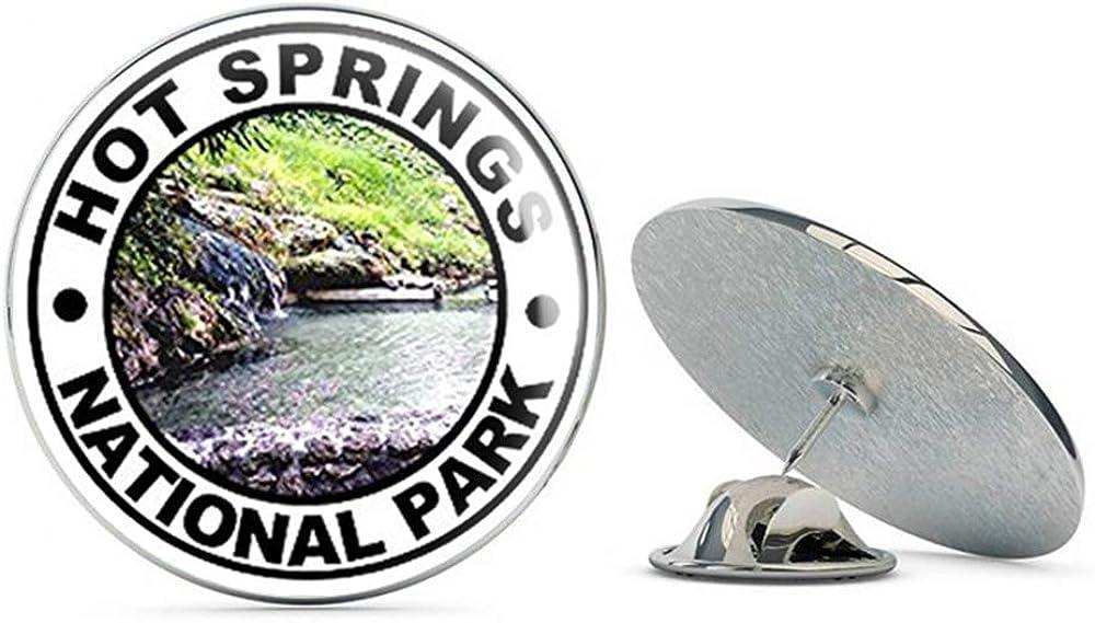 NYC Jewelers Round HOT Springs National Park (rv Hike Hiking) Metal 0.75