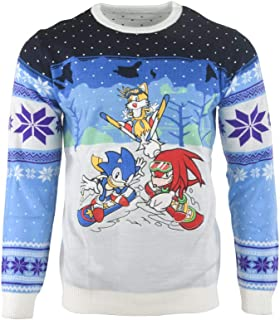 Ugly Christmas Sweater Skiing for Men Women Boys and Girls