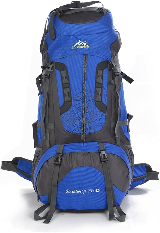 ALUK- Wasserdicht Wandern Rucksack, Oxford Rucksack Outdoor Sport Reisen Trekking Laufen Mnner 80L (Farbe   Royal Blau)