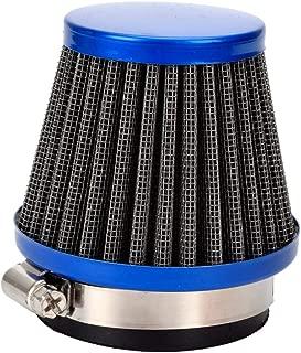 HIAORS Universal 48mm to 50mm Air Intake Filter Cleaner for Honda CB 250 CB250N Yamaha DT250 DT250MX Suzuki SSR TTR Dirt Bike Pit Bike Kawasaki 250 300 Sport Motorcycle ATV Scooters Moped Parts Blue