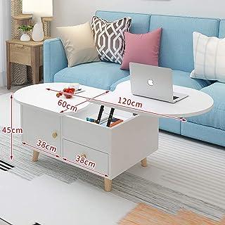 Table Basse Avec Tiroir De Rangement.Amazon Fr Table Basse De Salon Avec Tiroirs