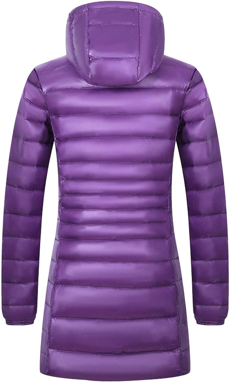 Cuco Fantasy Down Coat Long Winter Ultra Light Down Jacket Women Hooded Feather Jacket Warm Coat