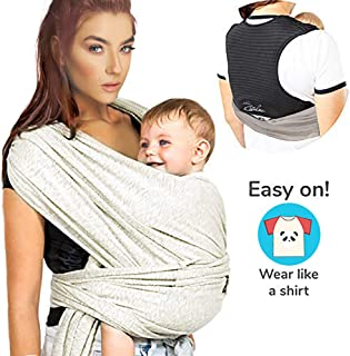 ZIIDOO Baby Wrap Carrier,Easy to Wear Baby Strap,Lightweight Breathable Softness Stretchy Infant Sling,Hands Free Babies Carrier Wraps for Newborns Infants and Toddlers