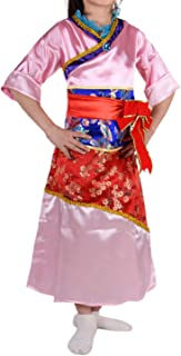 Deluxe Girl Ancient Mulan Costume Chinese Style Hanfu Dress Clothing Dance Kids Asian Princess Fancy Dress