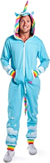 Tipsy Elves' Men's Unicorn Costume - Comfy Colorful Halloween Jumpsuit