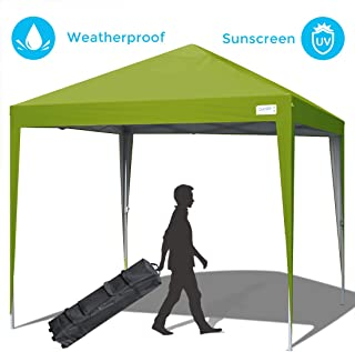 Quictent Upgraded Privacy 10x10 EZ Pop Up Canopy Tent Gazebo Party Tent Waterproof with Roller Bag -5 Colors (Green)