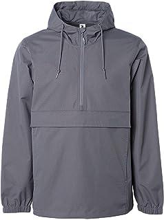 Global Mens Hooded Rain Coat Waterproof Jacket Pocket Zip Up Windbreaker Hoodie