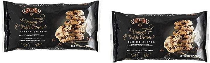 BAILEYS Original Irish Cream Baking Chips, Semi Sweet Chocolate Chips Morsels ~ pack of 2