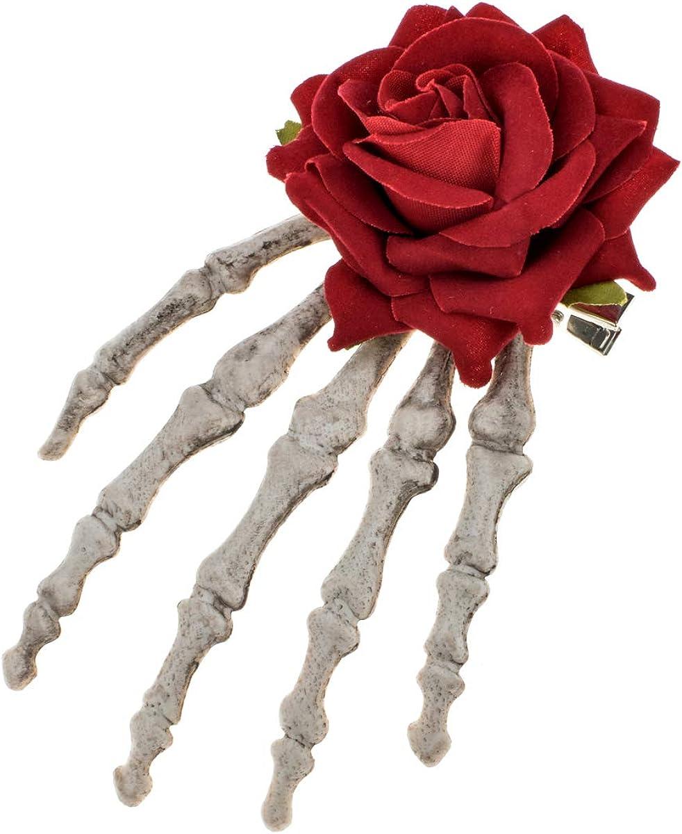 Vividsun Party Rose Flower Spasm price Hair Tucson Mall Clip Flow Flamenco Dancer Pin up