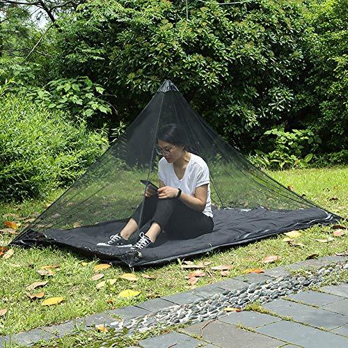 ENticerowts Moustiquaire portable pour randonnée, tente à suspendre, protection contre les insectes, durable, matériaux respectueux de l'environnement, multifonctionnels, noir