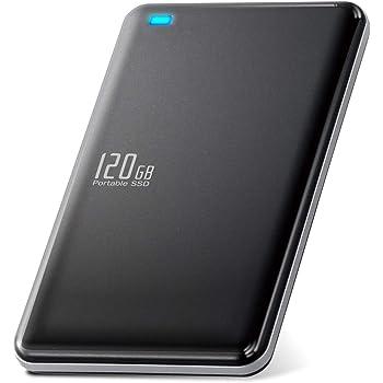 エレコム 外付けSSD ポータブル 120GB USB3.0 USB3.1(Gen1) TLC 小型 軽量 名刺サイズ ブラック ESD-ED0120GBK
