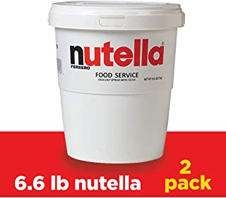 Nutella Hazelnut Spread, Bulk Size for Food Service 6.6 lb Tubs, Case of 1