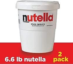 Nutella Chocolate Hazelnut Spread, Bulk Size for Food Service 6.6 lb Tubs, Case of 2