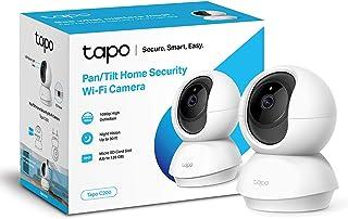 TP-Link Tapo Pan/Tilt Smart Security Camera, Indoor CCTV, 360° Rotational View, Werkt met Alexa & Google Home, Geen Hub Ve...