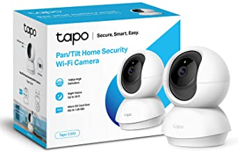 TP-LINK Tapo Pan/Tilt Smart Security Camera, Indoor CCTV, 360° Rotational View, Works with Alexa & Google Home, No Hub Req...