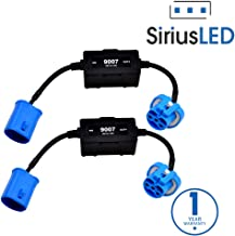 SiriusLED Canbus Decoder Error Canceller Anti Flickering Wire Harness for LED Headlights Size 9007 Pack of 2