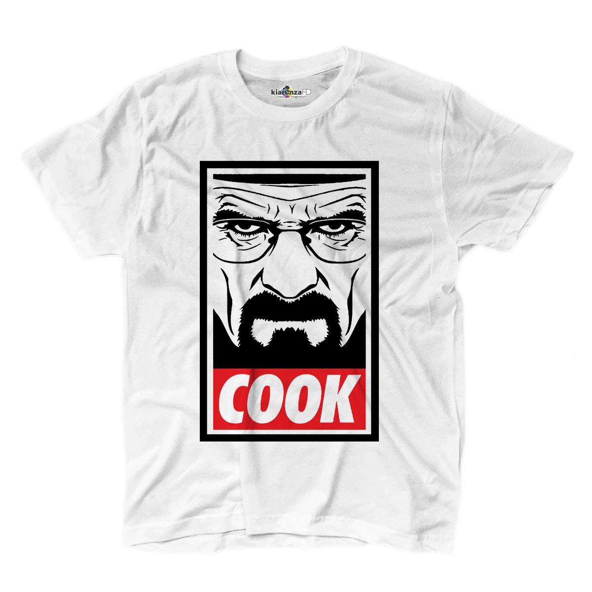 KiarenzaFD - Camiseta Camiseta Breaking Heisenberg Bad Crystal Meth Cook química, KTSA02282-S-white, Blanco, Small: Amazon.es: Deportes y aire libre