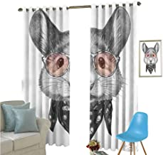 YSING Window Curtains,Placement Pattern Vector Files Animal Other,Blackout Draperies for Bedroom Living Room,W84 x L96 Inch