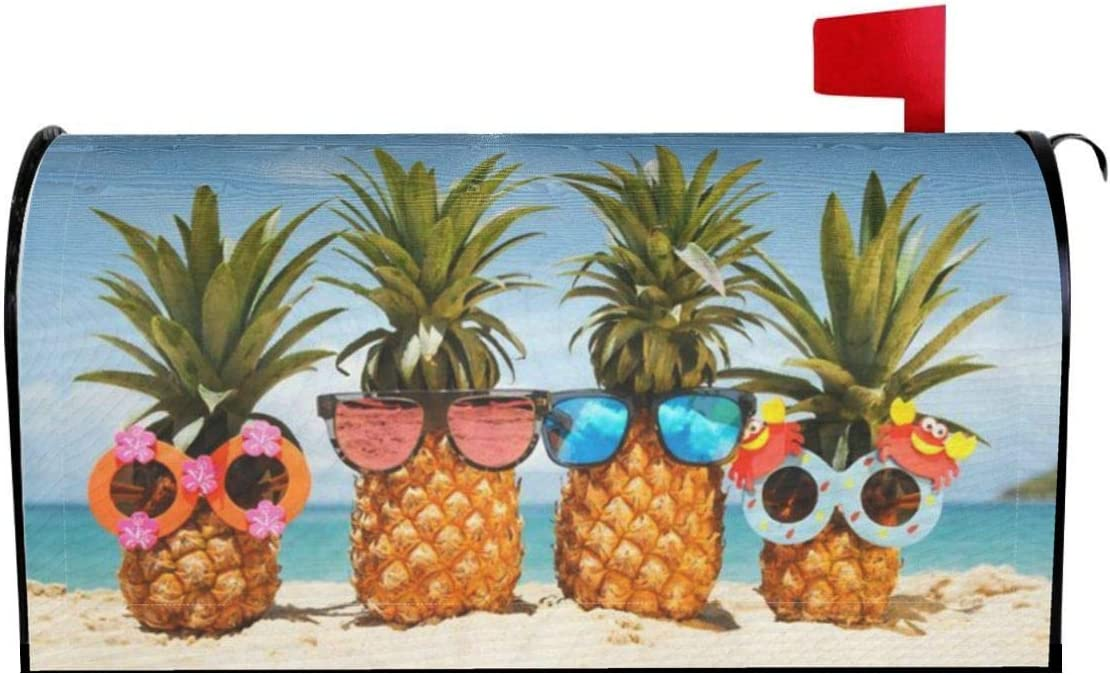 Mantaiyuan Mailbox Cover Funny Tropical Max 43% OFF Max 54% OFF Summer Pineapples Beach