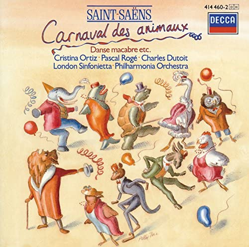 Pascal Rogé, Cristina Ortiz, London Sinfonietta, Philharmonia Orchestra, Charles Dutoit & Camille Saint-Saëns