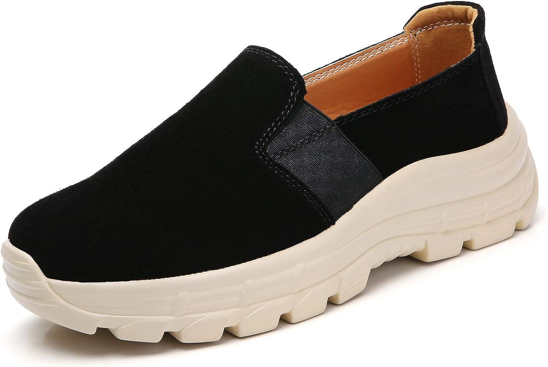 Hee grand Women's Wedge Sneakers Slip On Casual Shoes Comfort Fl