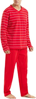 ARBLOVE Pijamas Hombre Invierno Manga Larga Pantalones Larga Conjuntos de Pijama para Dormir, Suave,Cómodo y Agradable