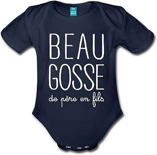 8a9cbe008 Spreadshirt Beau Gosse De Père en Fils Body Bébé Bio Manches Courtes