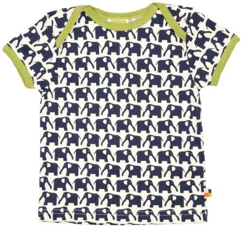 Loud + Proud Unisex - Baby T-Shirts Tierdruck 204, Blau (Marine ), 98/104
