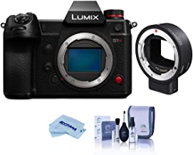 Panasonic LUMIX DC-S1H Mirrorless Digital Camera Body - Bundle with Sigma MC-21 Mount Converter, Canon EF Lenses to Leica ...