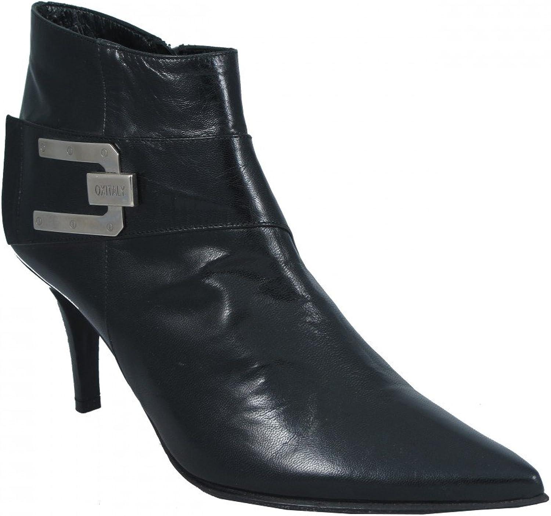 Oxmox Women's Italian Designer 532 Low Heel Ankle Boot