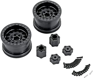 Axial AX31178 Method RC Rock Crawler 12-Spoke Beadlock Wheels with IFD (Interchangeable Face Design) and Hub Adapters, Black (Set of 2)
