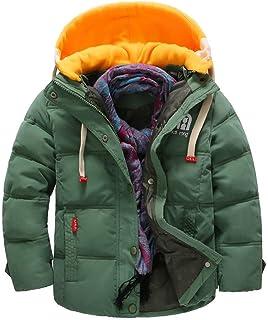 VEKDONE Baby Girl Boy Anorak Jacket Hood Fleece Lined Winter Puffer Jacket Coat
