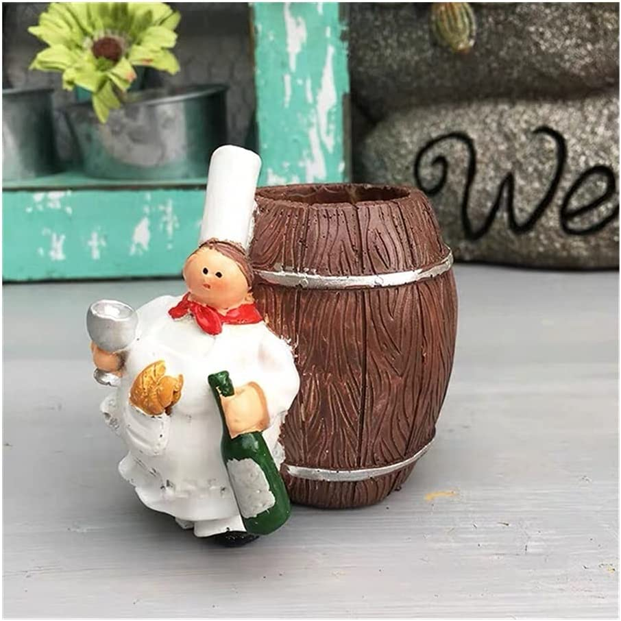 American Pastoral Super sale period limited Cute Fat Chef Regular store Holder Creative Toothpick Househ