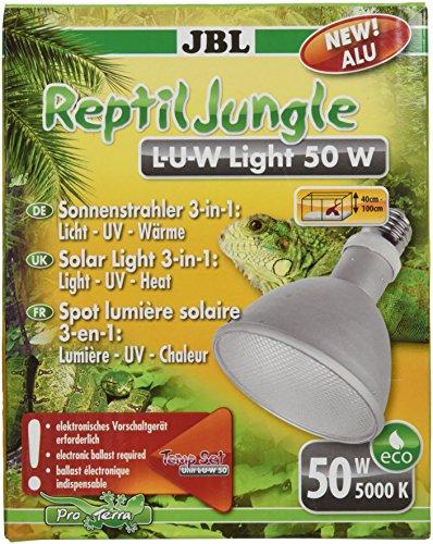 JBL ReptilJungle L-U-W 61895 Breitstrahler für Regenwaldterrarien, Aluminium, 50 W, E 27