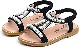 Todaies Toddler Infant Kids Sandals,Baby Girls Pearl Crystal Single Roman Shoes