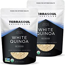 Terrasoul Superfoods Organic White Quinoa, 4 Lbs - Pre-washed | Gluten-free | Plant Protein