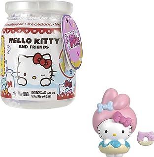 Mattel Hello Kitty GTY62 - Sanrio Hello Kitty Double Dippers-samlarfigurer (5,1cm) med Huvudbonad och Efterrättstillbehö...