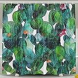 BBFhome Wassermelonen-Wachstum Badezimmer Duschvorhang Schimmelresistent wasserdicht mit verstellbarem Haken 180 * 180cm