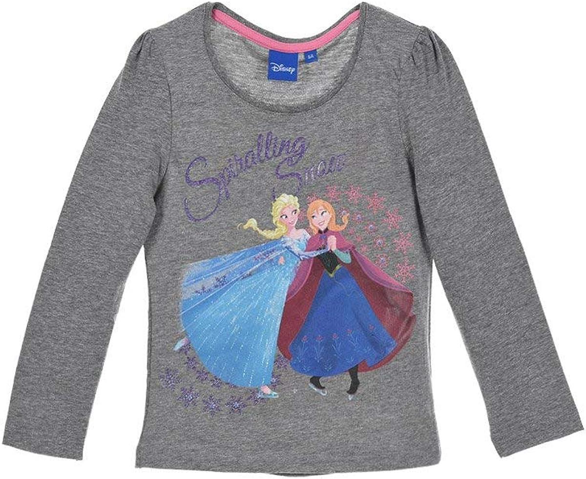 Disney Frozen La regina di ghiaccio per bambini a maniche lunghe maglietta per ragazza con motivi ELSA e Anna maglietta a maniche lunghe