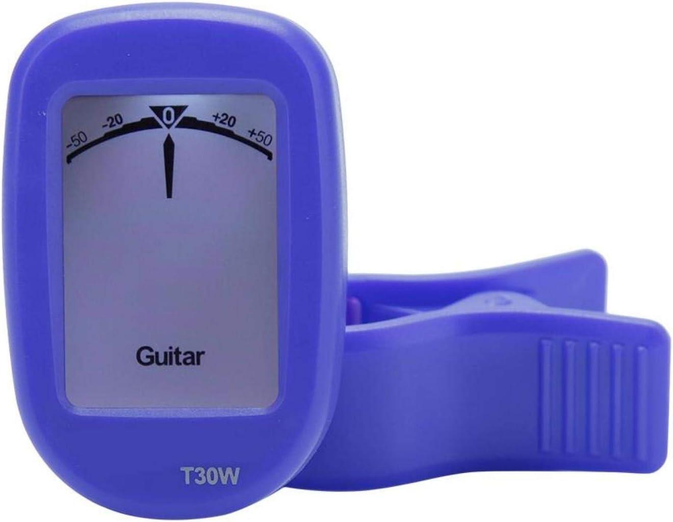 Afinador de alta sensibilidad y precisión para guitarra, bajo, ukelele, violín, banjo para músicos profesionales o principiantes(blue)