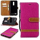 Funda tipo cartera para LG K30/Premier Pro/Harmony 2/Xpression Plus de piel con función atril, tapa...