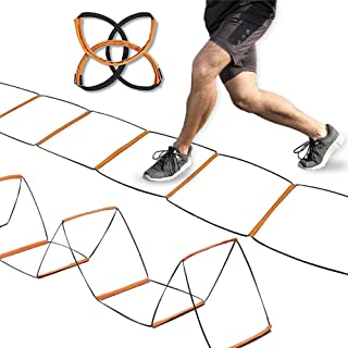 Agility Ladder Speed Training Equipment Hurdles for Home Workouts, Team, Soccer, Gym Equipment, Speed and Agility Training, Foldable, Quick Set-up