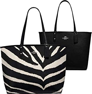 SALE ! New Authentic COACH Exotic Zebra in Black & White Fab Adventure Large Shopper LRG Tote