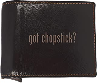 got chopstick? - Soft Cowhide Genuine Engraved Bifold Leather Wallet