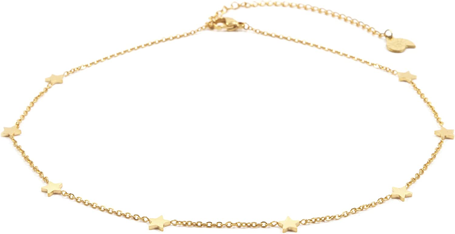 Happiness Boutique Women Star Necklace in Gold Color Delicate Necklace Star Pendants Stainless Steel Jewelry