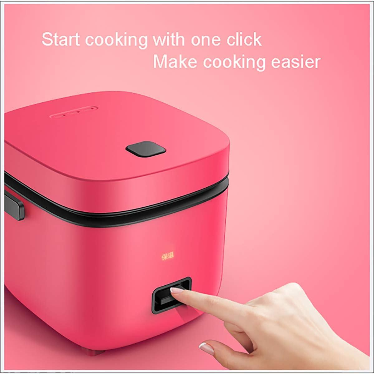 nahrhafte Eier,Schwarz Porridge Warmhaltefunktion von Premium-Qualit/ät Inner-Topf f/ür das Kochen Reis XER Reiskocher Mini Reiskocher Steamer 1,2l // 200W // 220V