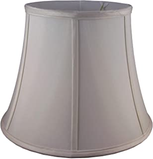 """American Pride 9""""x 14""""x 10.75"""" Round Soft Shantung Tailored Lampshade, Croissant"""