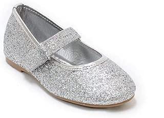 H2K Baby Girl Infant Toddler Mary Jane Flats Soft Sole Glitter Dress Baby Walking ShoesBebe