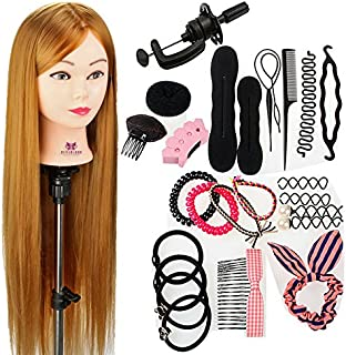 Neverland Beauty 76 cm cabezas de ejercicios para peinar peinado cosmétologie práctica maniquí muñeca 100% de cabello sintéticas + Elefante & Hairdressing herramientas accesorios Set # 27